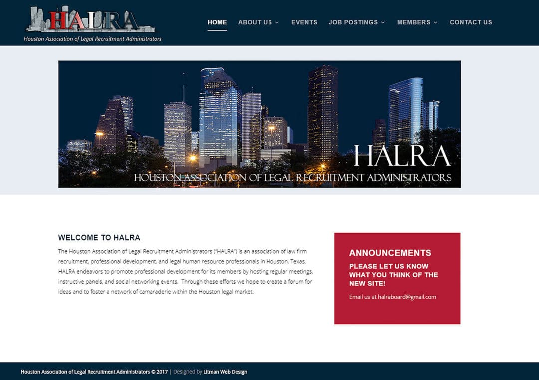 Houston Association of Legal Recruitment Administrators
